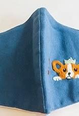 Embroidered Corgi Face Mask