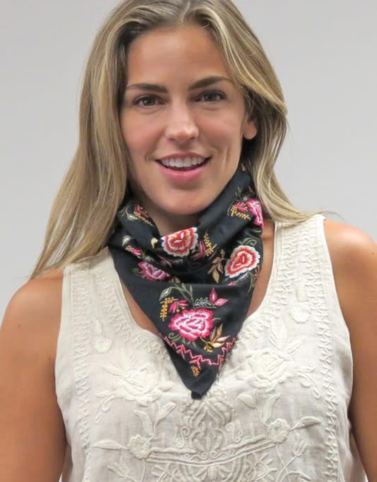 Caite Embroidered Bandana