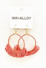 Ink+Alloy Fringe Hoop Seed Bead