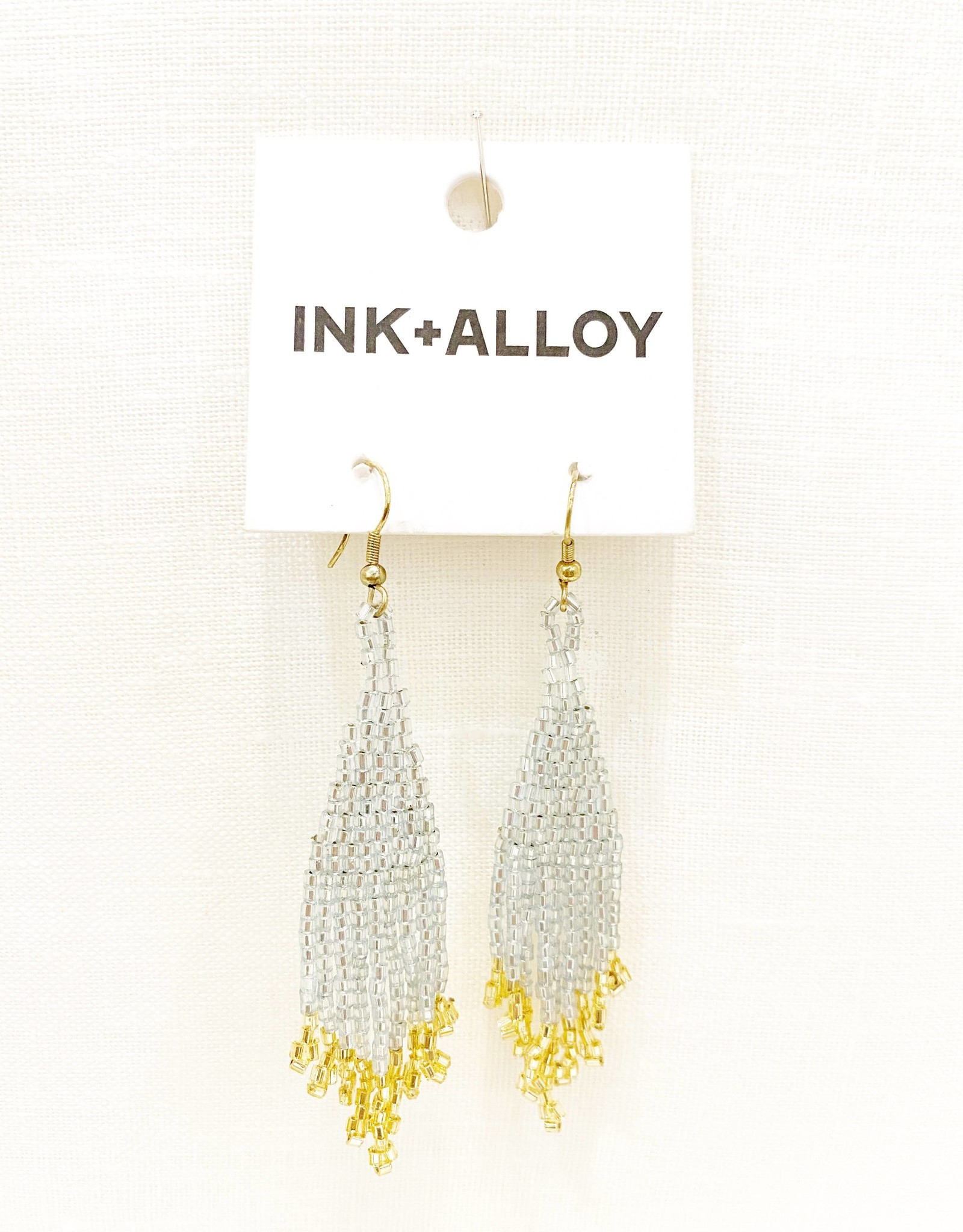 Ink+Alloy Gold Fringe Earring