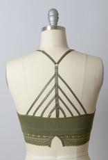 Leto Accessories High Neck Crochet Edge Bralette