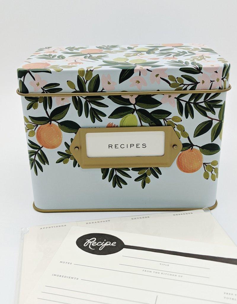 Rifle Paper Floral Tin Recipe Box