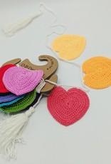 O-B-Designs Heart Crochet Bunting Rainbow