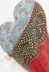 Laurie Pollpeter Eskenazi Blue Top Heart