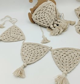 O-B-Designs Heart Crochet Bunting Natural