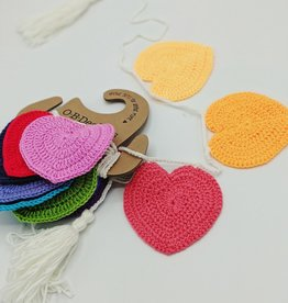 O-B-Designs Heart Crochet Bunting Rainbow