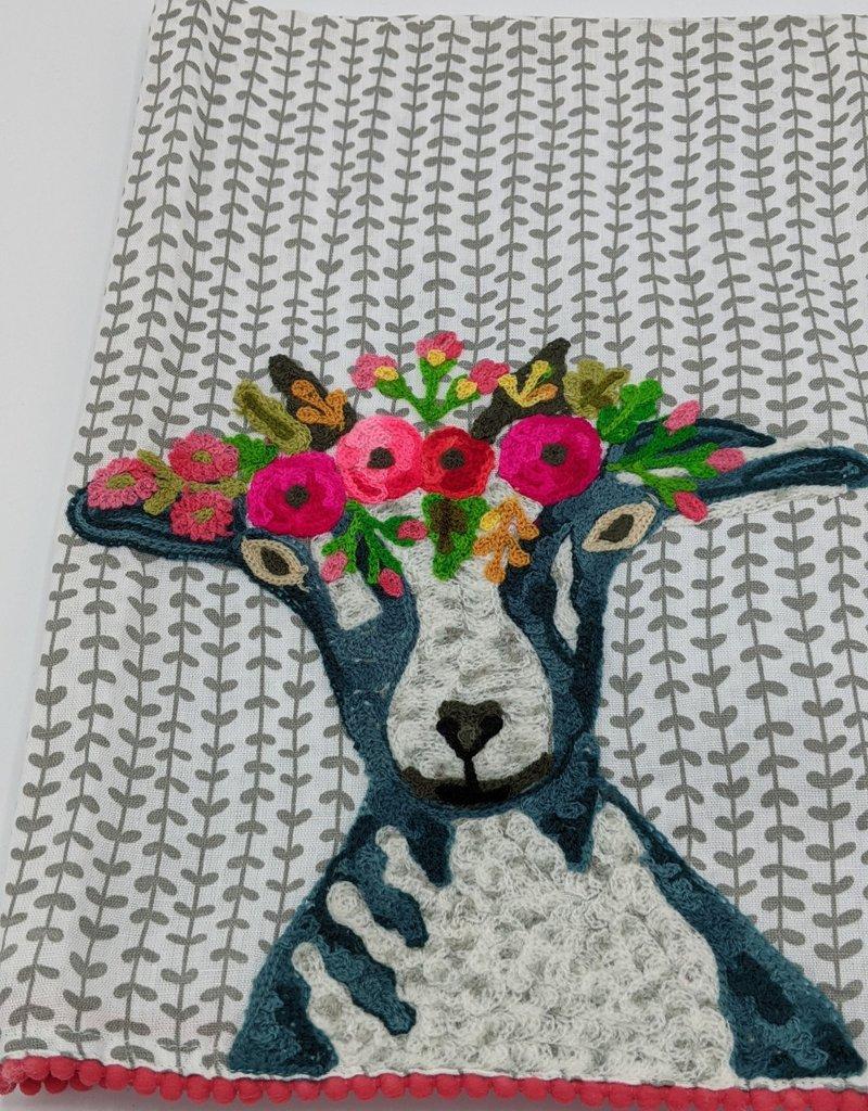 Karma Living Karma Embroidered Tea Towel