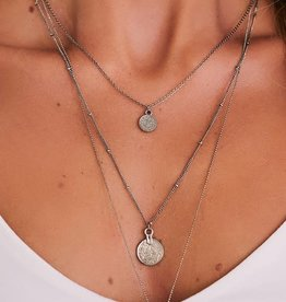 Silver Layer Necklace