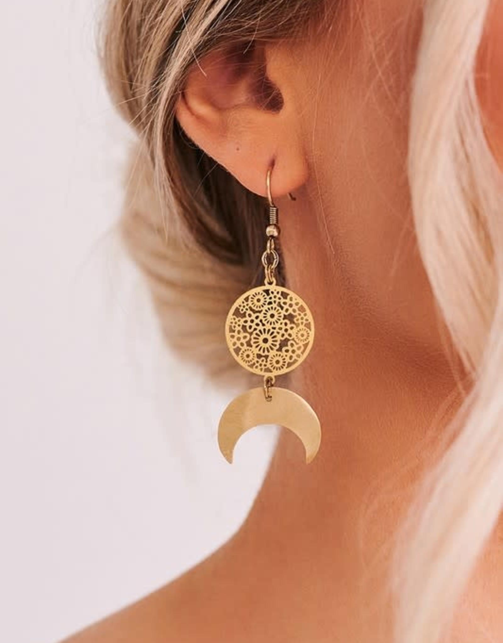 Crescent Filigree Earrings