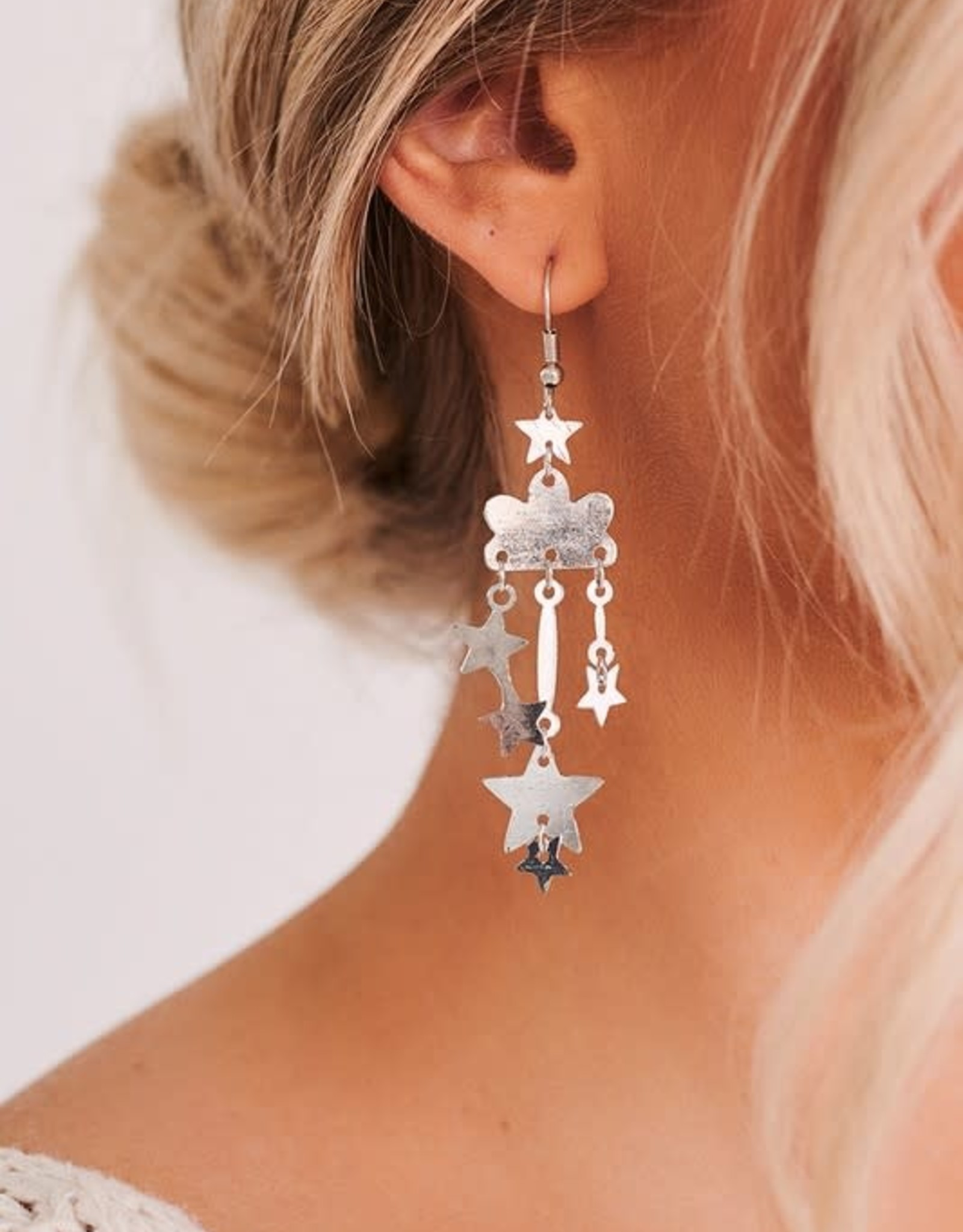 Silver Cloud Earrings