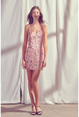 Pink Zebra Mini Dress