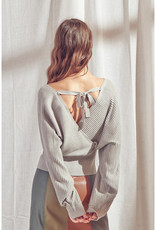 Knit Ribbed Wrap Top