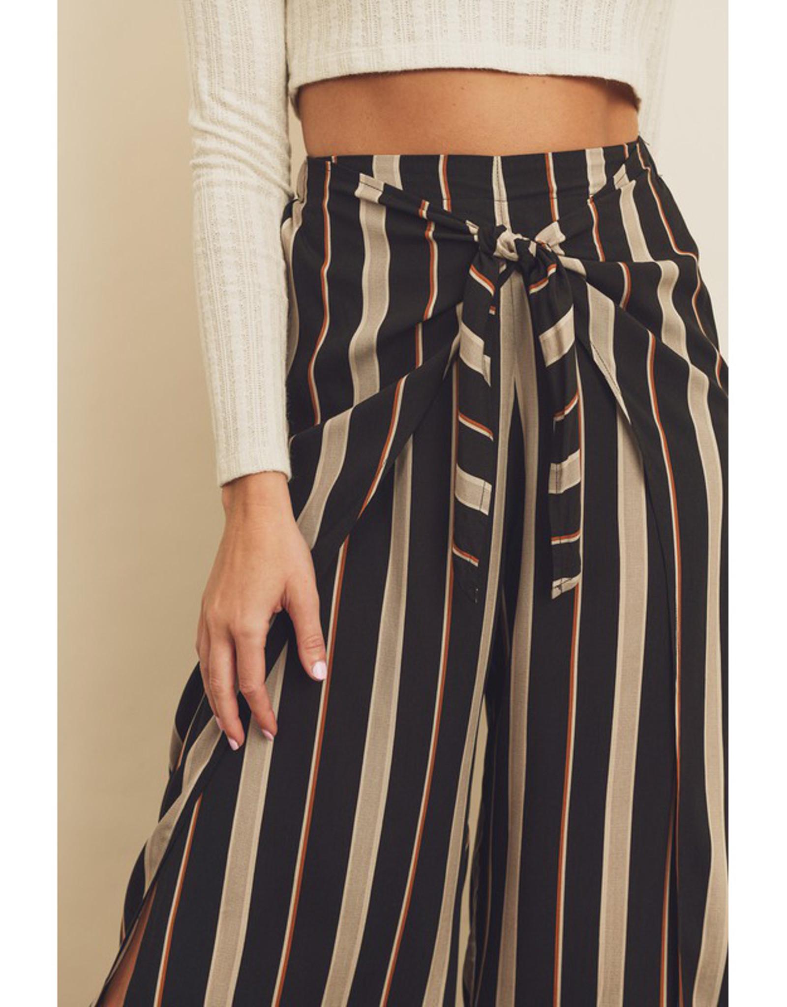 Stripe Wrap Pants