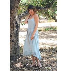 Lace Trim Slouchy Slip Dress
