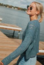 Boxy Pointelle Sweater
