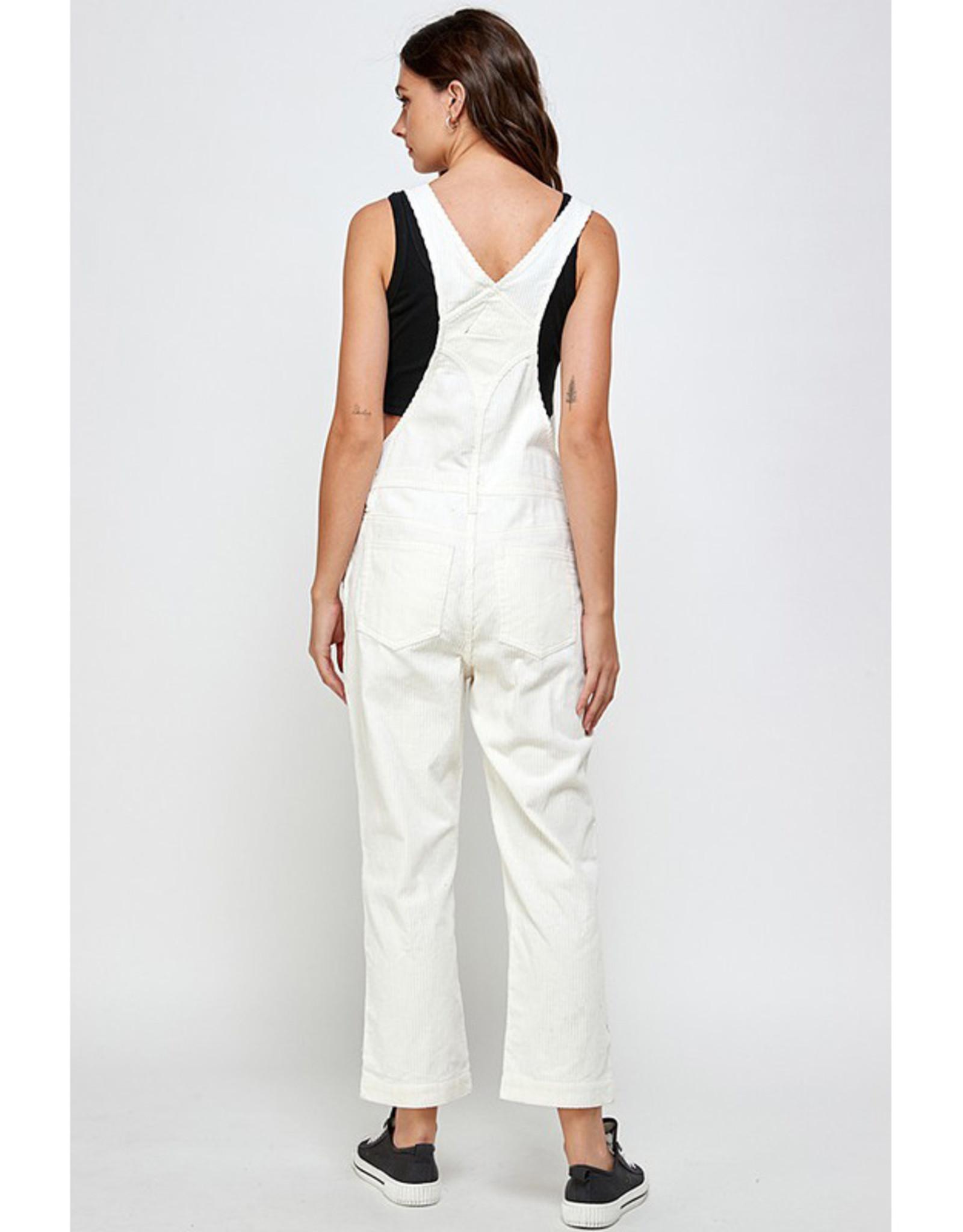 White Corduroy Overalls