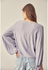 Mustard Seed Shirred Slouchy Top