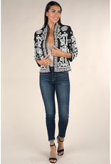 Lovestitch Black & White Embroidered Jacket