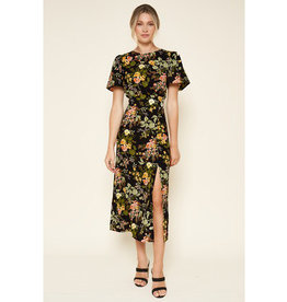 Sugarlips Midnight Garden Midi Dress