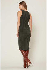 Current Air Ribbed V-Neck Bodycon Dress