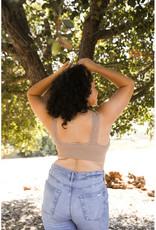 Leto Accessories Plus Lace Edge Seamless Bralette