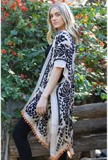 Angie Print Pom Pom Kimono