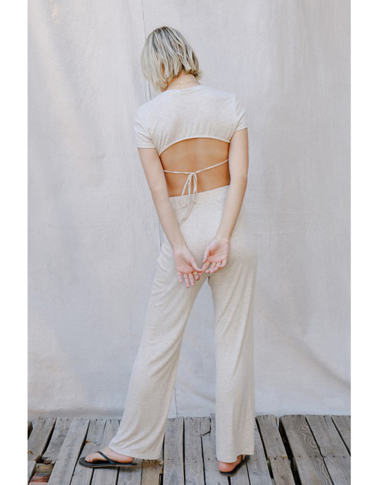 pretty garbage Ribbed High Waist Pants