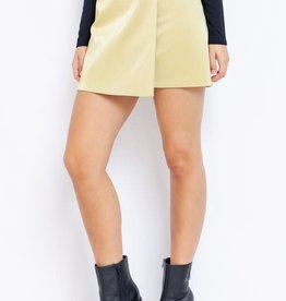 Le Lis Vegan Leather Wrap Skirt