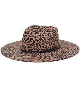 Leopard Wool Felt Panama