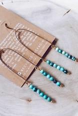 Cecelia Designs Handmade Gold Fill Gemstone U Earrings
