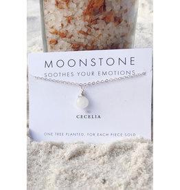 "Handmade Silver Plated 18"" Gemstone Necklace"