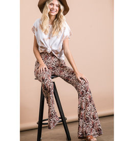 Print Jersey Flares