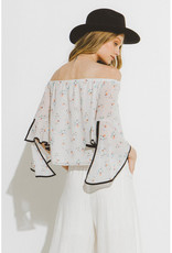 Daisy Sketch Off Shoulder Top