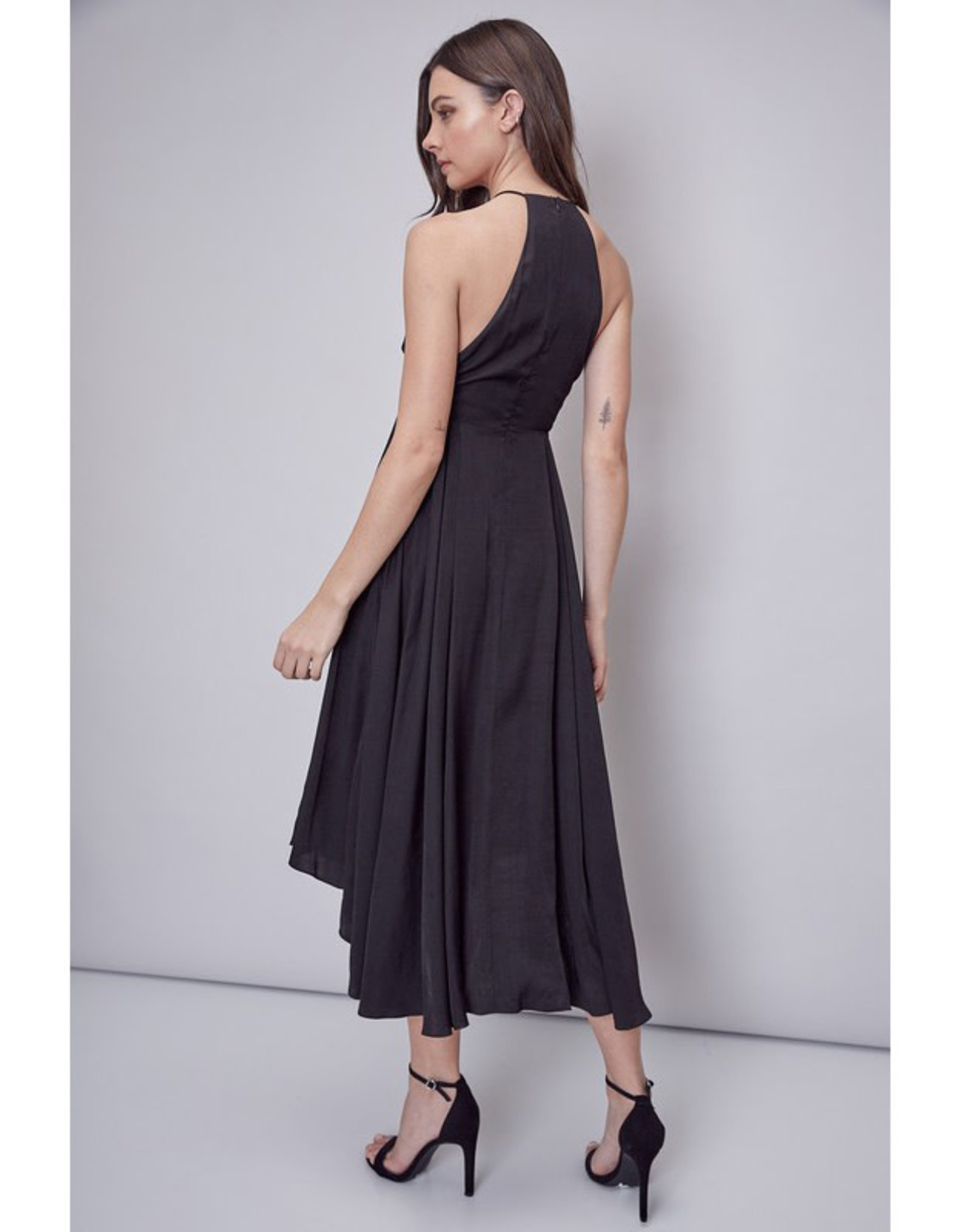 Black Strappy Midi Dress