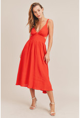 Mable Cut Out Midi Dress