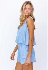 Le Lis Slouchy Tie Back Tank