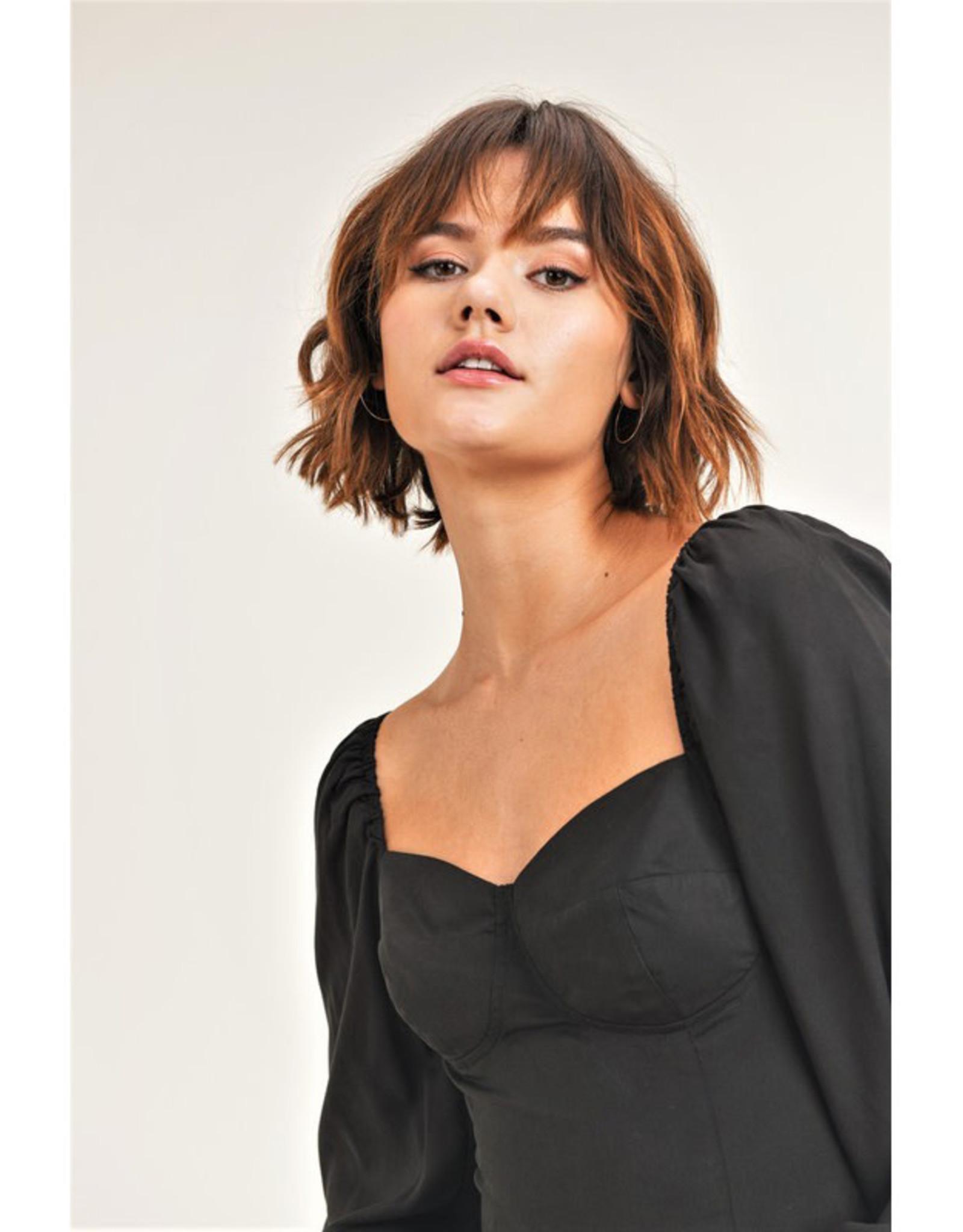 Jane + One Long Sleeve Corset Top