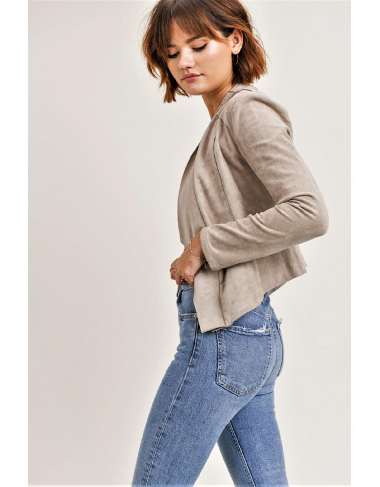Jane + One Vegan Suede Zip Jacket