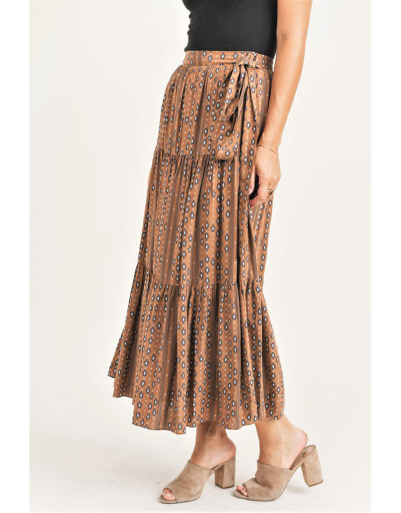 Jane + One Tiered Print Maxi
