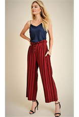 Jane + One Striped Button Fly Pants