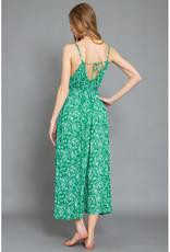 Green Print Jumpsuit