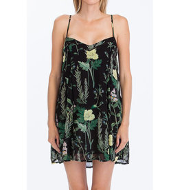 Olivaceous Herb & Floral Tank Dress