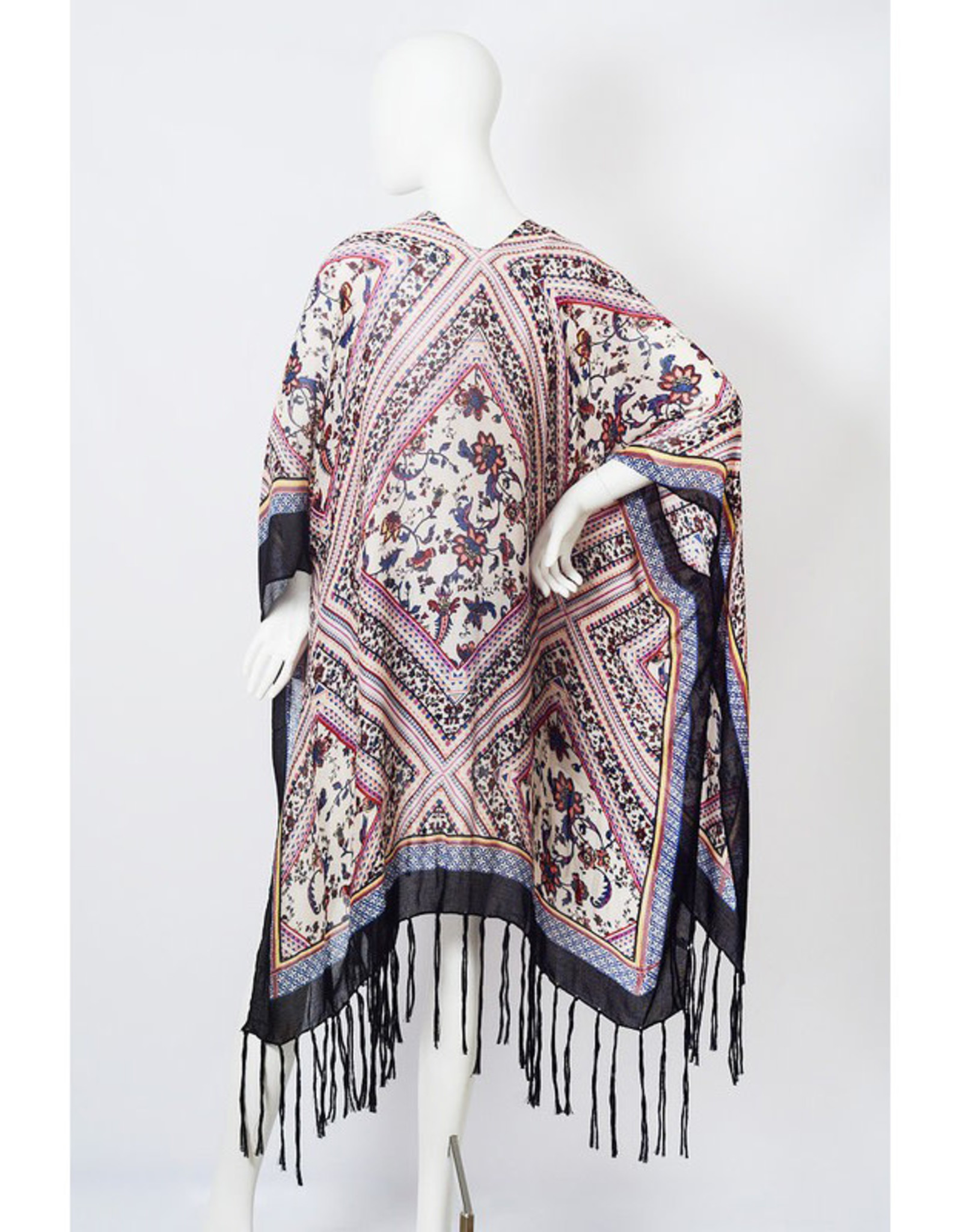 Boho Diamond Tassel Kimono