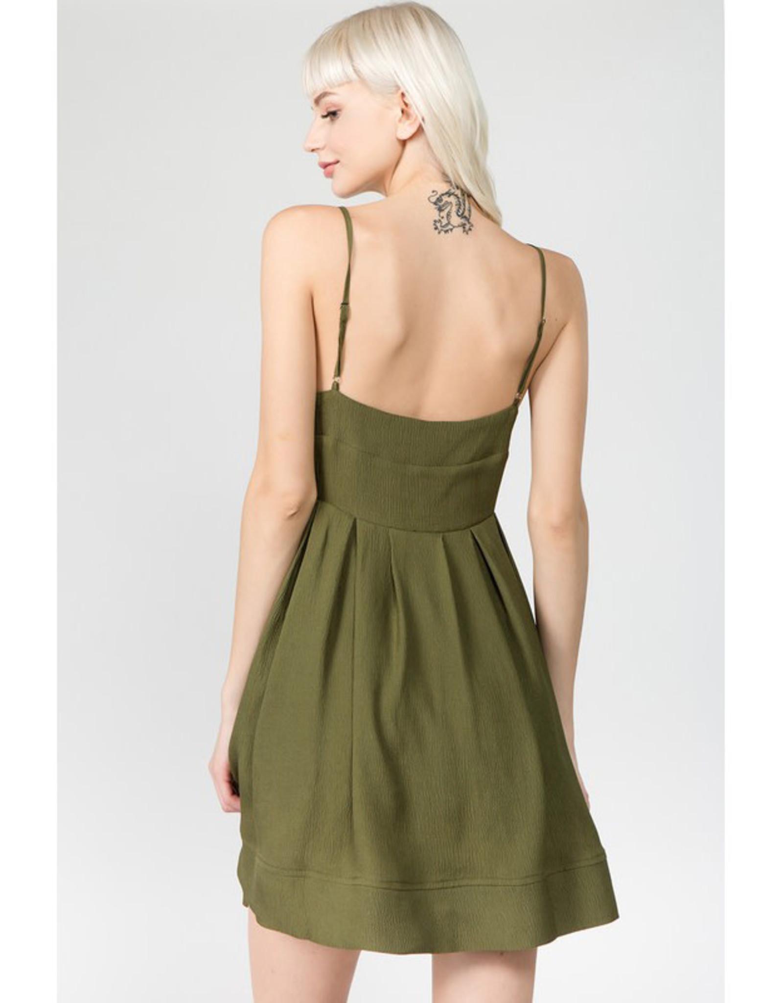 Moss Green Mini Dress