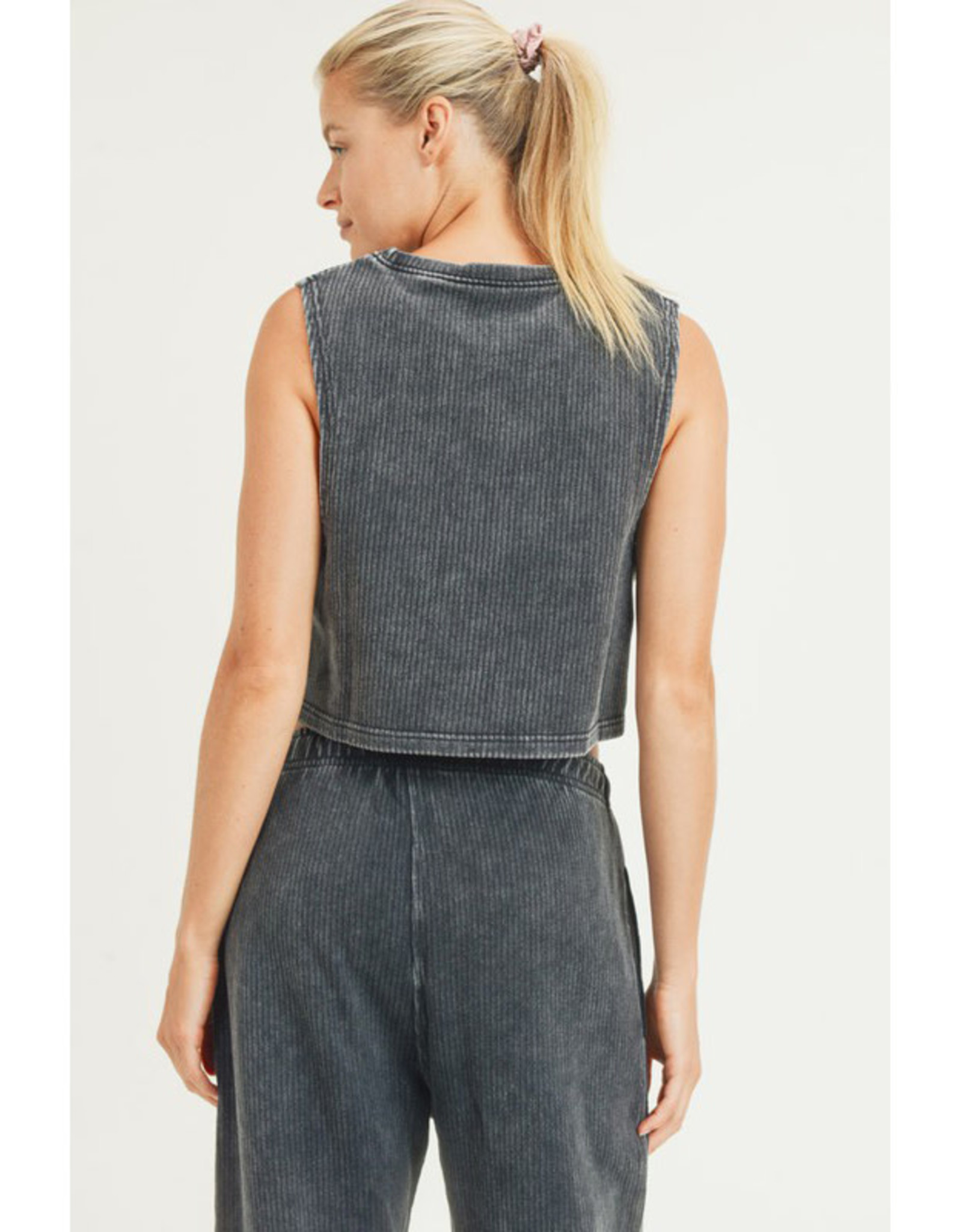 Ribbed Cotton Crop Muscle Tank