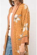 Floral Leopard Kimono