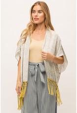Mystree Satin Snakeskin Kimono w/Fringe