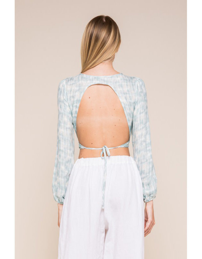 Sky to moon Open Back Wrap Top