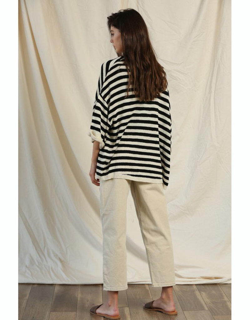 Knit Stripe Slouchy Cardigan