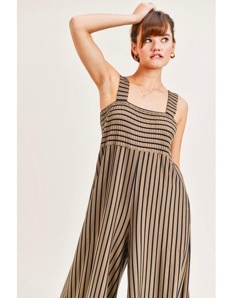 Olive Stripe Jumpsuit